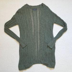 American Eagle hunter green knit cardigan size S